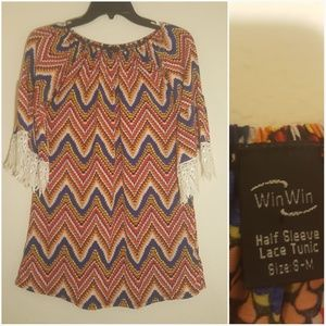 Win Win Tunic with lace sleeves